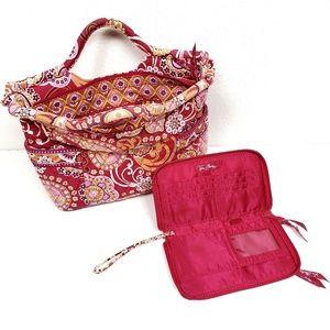 Vera Bradley Raspberry Fizz Wallet & Purse Set